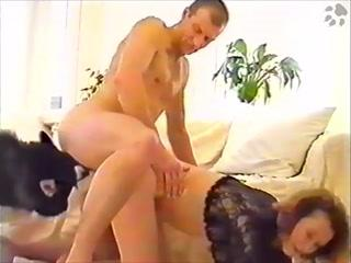 Dog and husband fucking orgy horny wife - animals porn