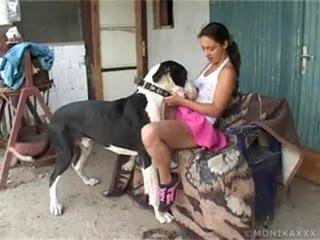Good Dog Licking Pussy mistress